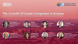 The Growth Of Israeli Companies In Arizona
