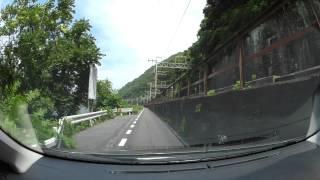 岡山県道395号和気熊山線、吉井川沿いを弓削から和気迄 車載動画 HX-A500