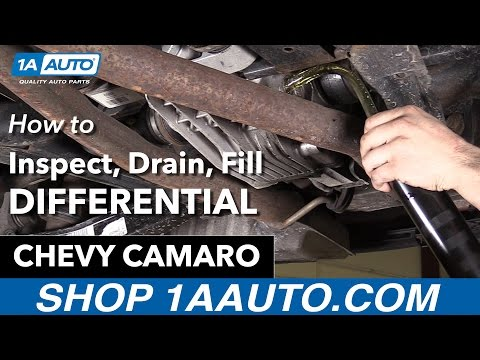 How to Check Differential 10-15 Chevy Camaro
