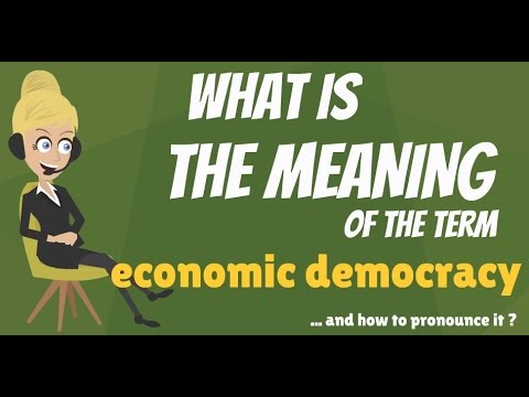 What is ECONOMIC DEMOCRACY? What does ECONOMIC DEMOCRACY mean? ECONOMIC DEMOCRACY meaning