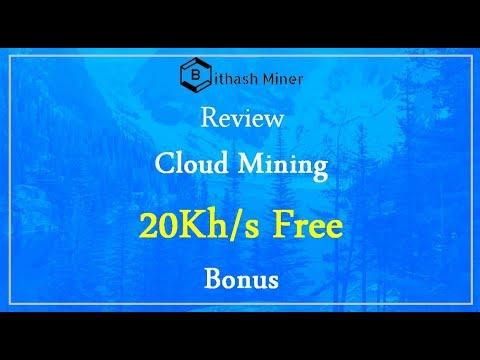 Bithashminer | Cloud Mining | 20Kh/s Bonus | Review