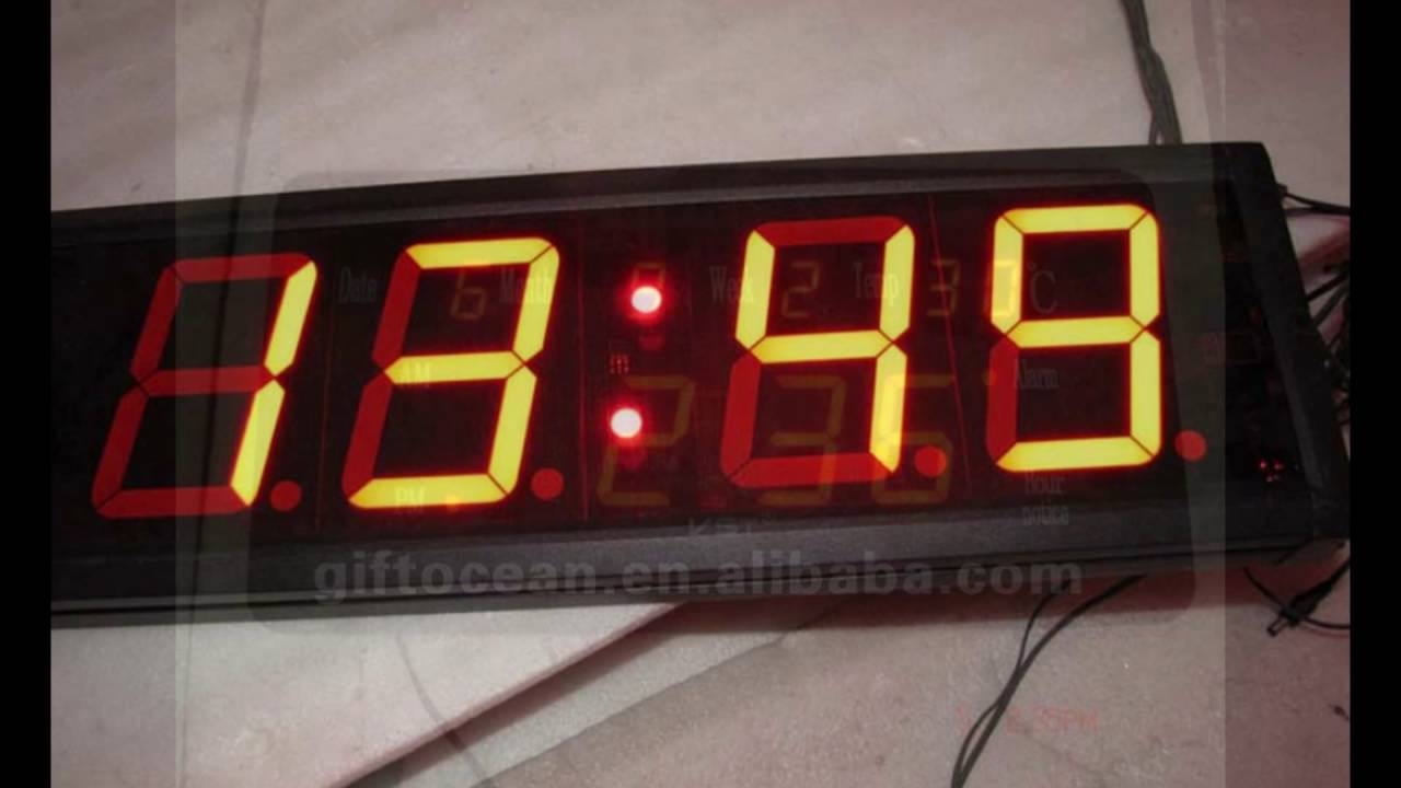 Large led wall clock youtube large led wall clock amipublicfo Image collections