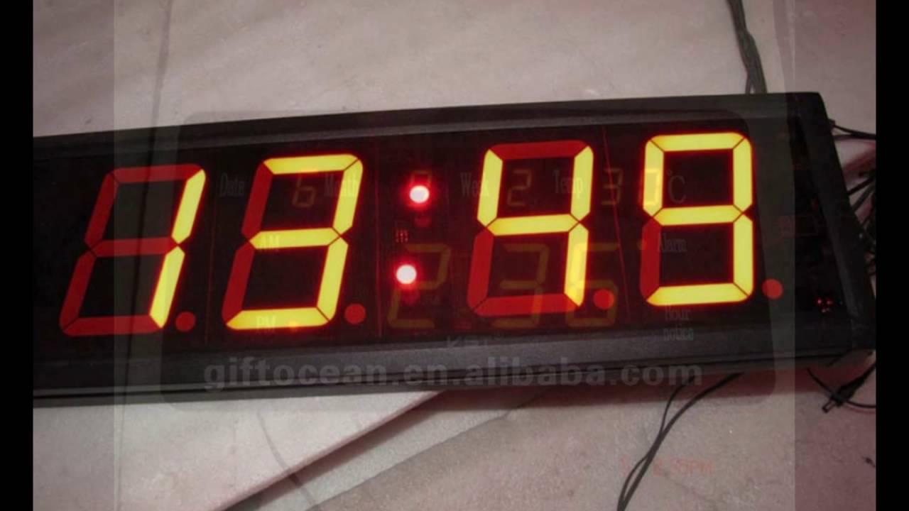 large led wall clock YouTube