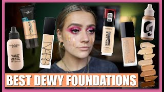 MY FAVOURITE FOUNDATIONS FOR GLOWY SKIN! TRY-ONS! FOUNDATION FOR DRY SKIN | EmmasRectangle