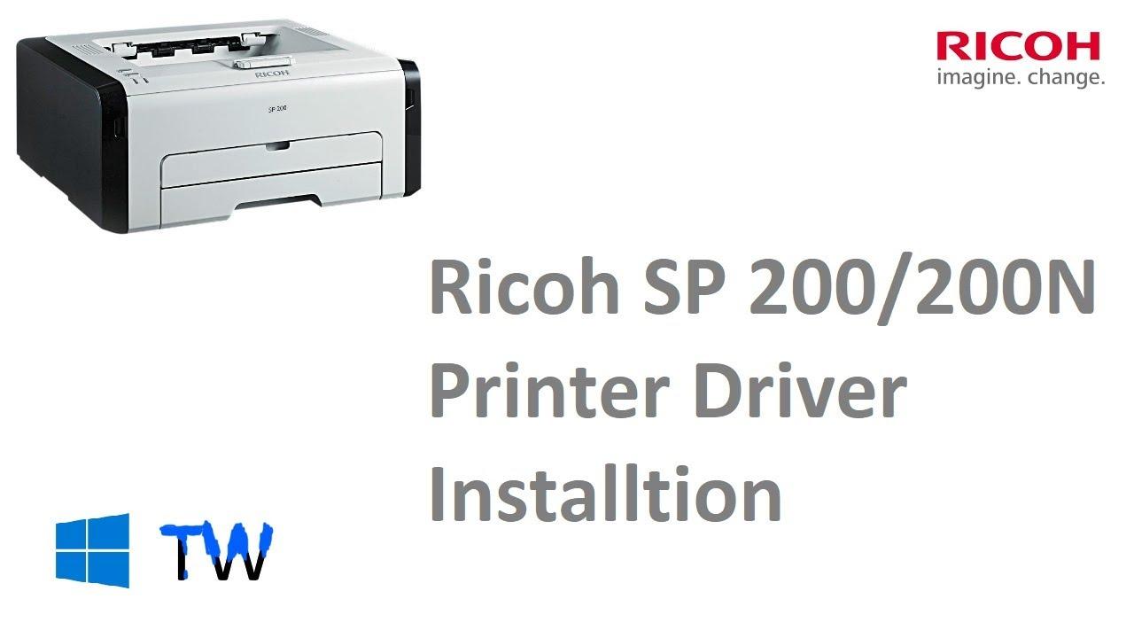 Ricoh SP 200 /200N Printer Driver Installation