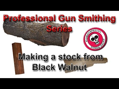 Making a Stock from Scratch   Black Walnut   Professional Gun Smithing Series