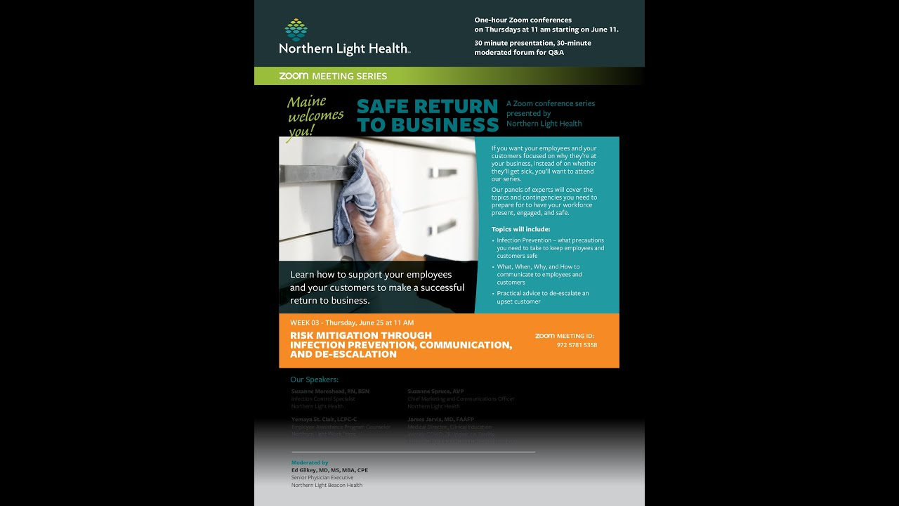 Risk Mitigation Through Infection Prevention, Communication, and De-escalation