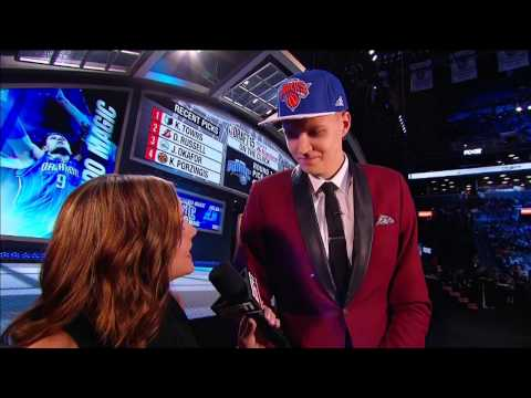 Knicks Select Kristaps Porzingis with 4th Pick in 2015 NBA Draft