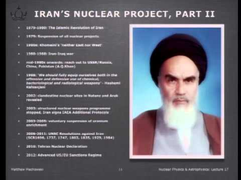 Nuclear weapons and Iran Lecture