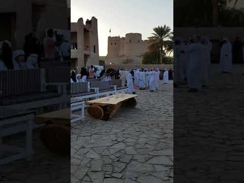 Traditional Emirati songs and dancing