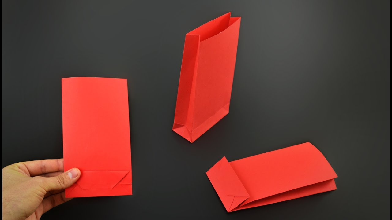 Origami Gift Box with One Sheet of Paper - YouTube | 720x1280