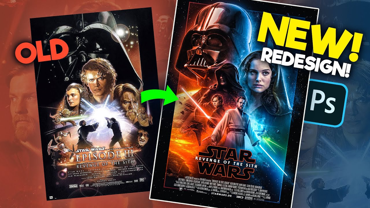 How I Remade The Revenge Of The Sith Poster Photoshop Youtube
