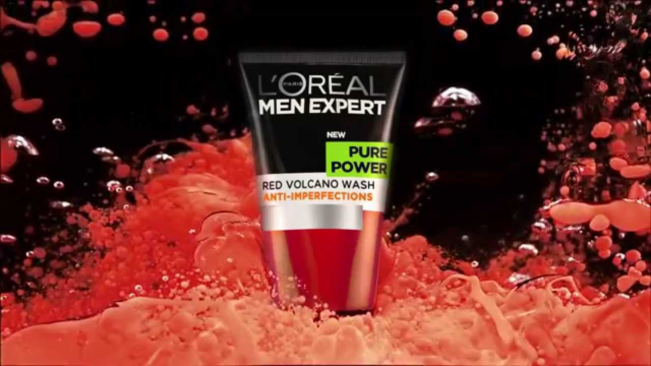 Loral Men Expert Pure Power Red Volcano Wash Official Tv Advert Loreal White Foam Youtube