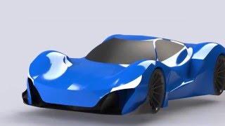 Solidworks Automotive Hypercar Design  Speed art  SVA Design