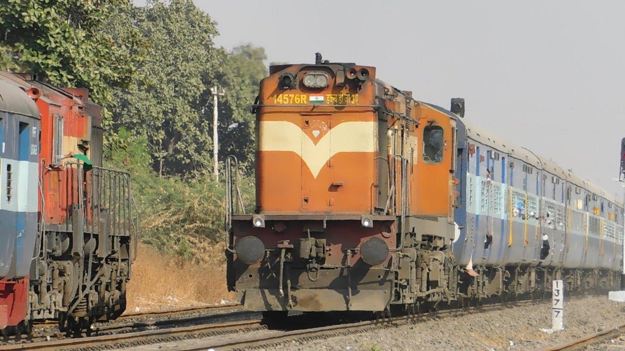 Download High Speed Non Stop Honking 17618 Tapovan Express Crossing 17617 Tapovan Express : Indian Railways