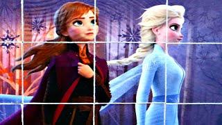 Холодное Сердце 2 - принцессы АННА и ЭЛЬЗА - собираем кубики пазлы для детей с героями Frozen 2
