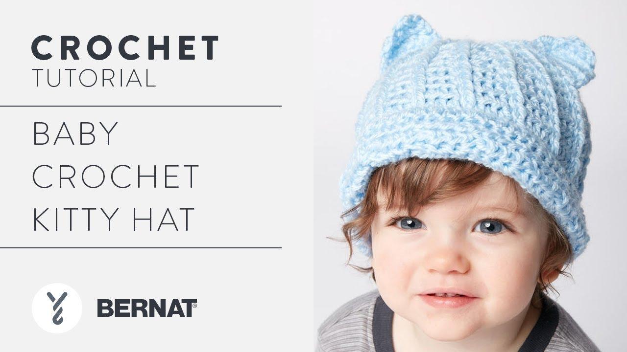 Crochet Toddler Hat  Kitty Hat - YouTube 08c20d915d5