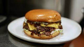 Late Night Smashed Cheeseburger