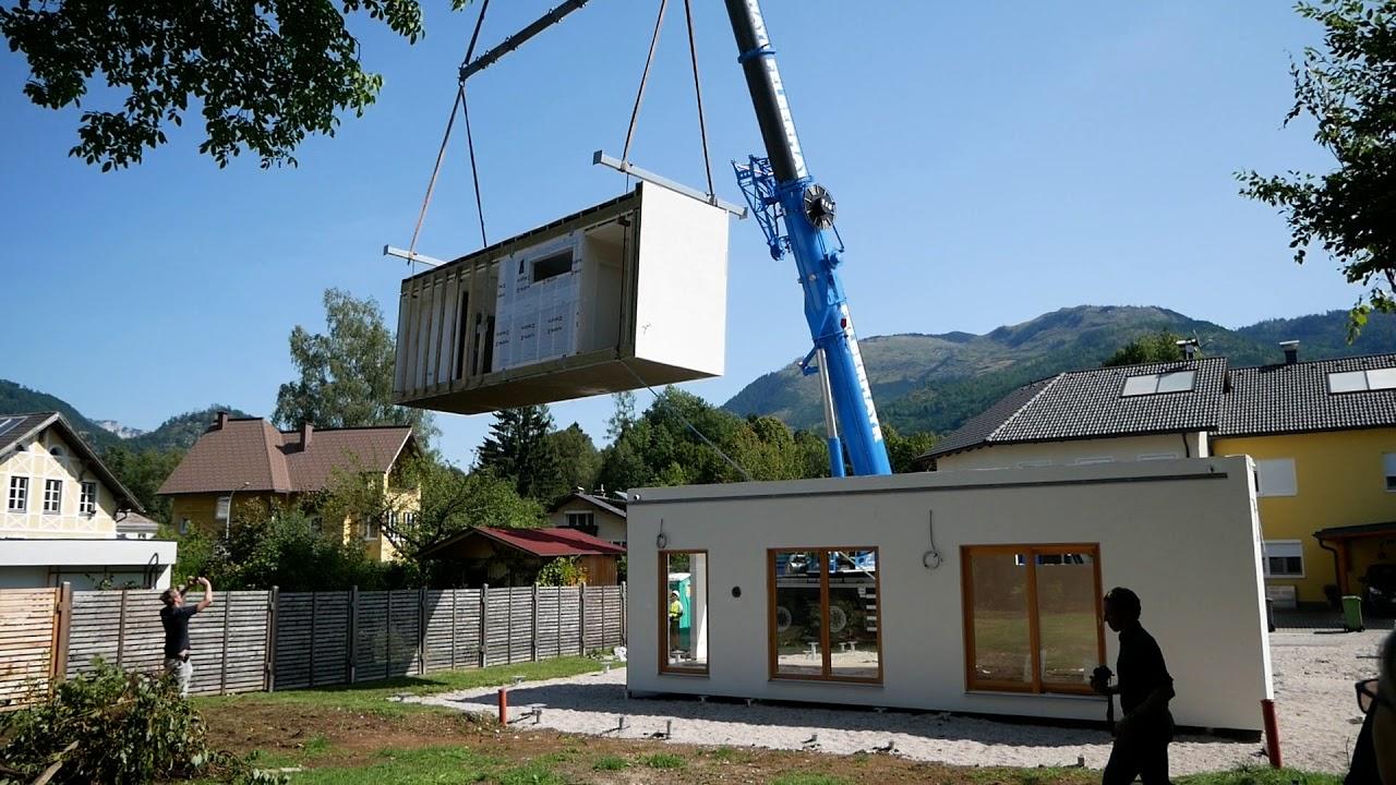 Sehr Kommt ein COMMOD-Haus geflogen Teil I (Modulhaus Montage) - YouTube FM63