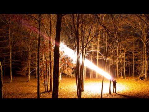 12 Gauge Dragon's Breath AT NIGHT!-  Smarter Every Day 2