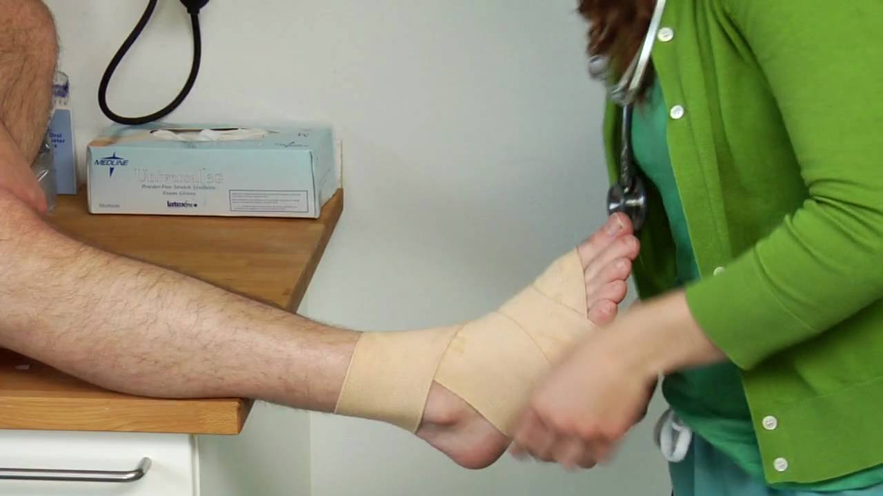 Medical Conditions Treatments How To Wrap An Ankle With An Ace