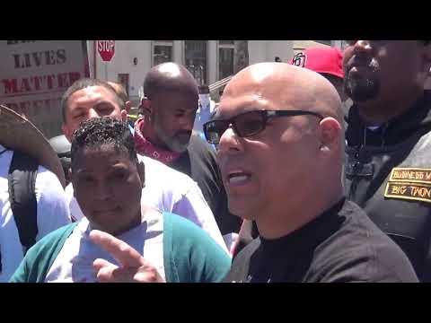 Protest near La Mesa police station on June 14, 2020