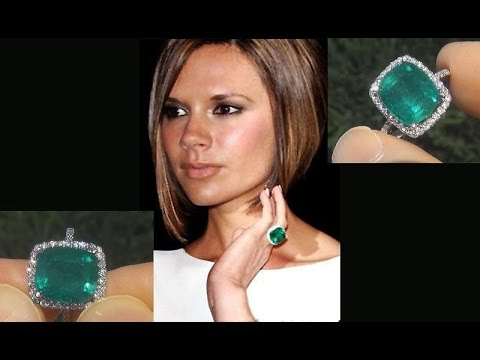 Victoria Beckham Gia Certified Untreated Colombian Emerald