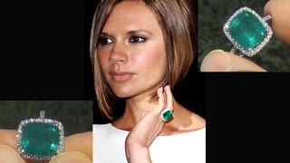 Victoria Beckham GIA Certified Untreated Colombian Emerald Diamond Cocktail Ring - C765