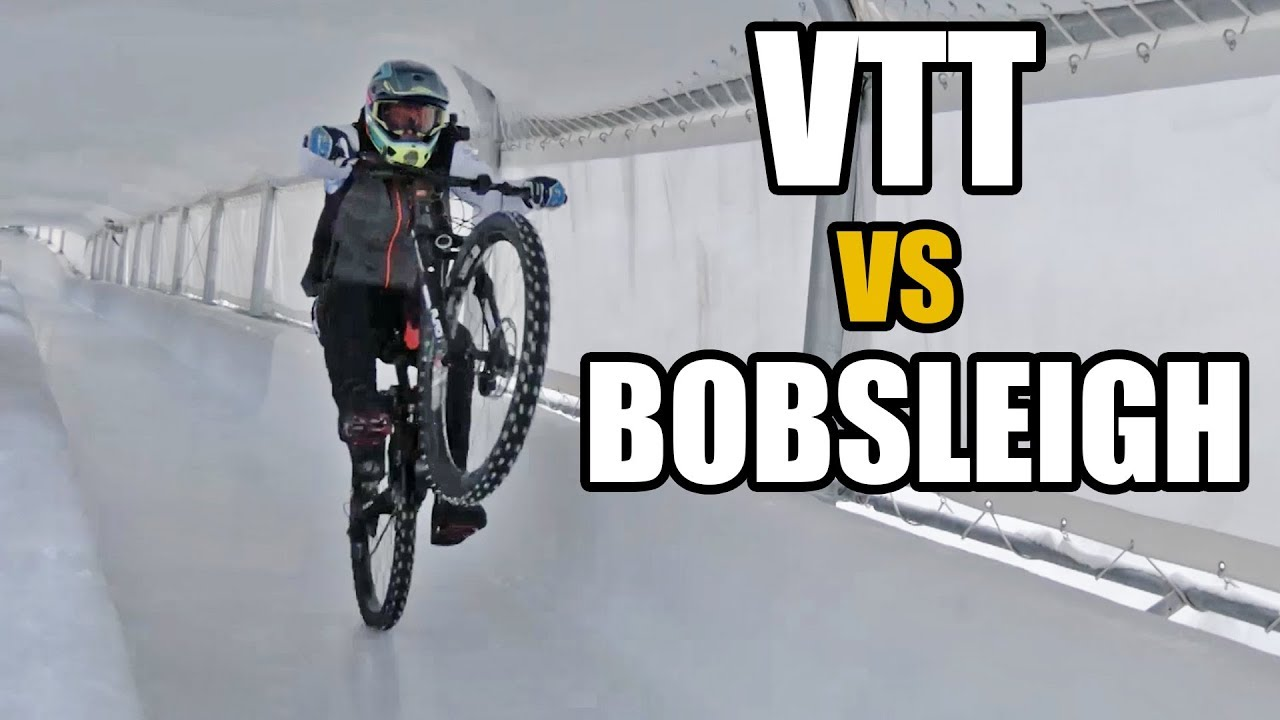 DEFI : Déscendre une piste de BOBSLEIGH en VTT ! (feat. Tom Barrer)