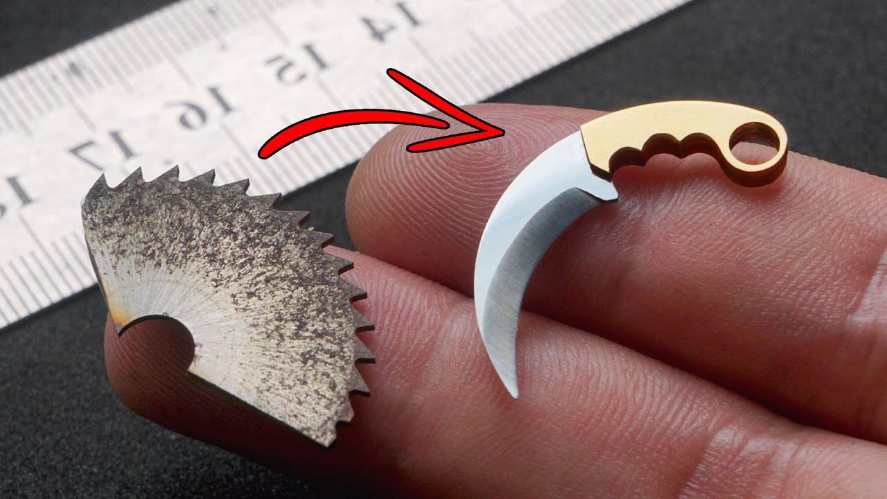 Making Mini Karambit out from Mini Saw Blade