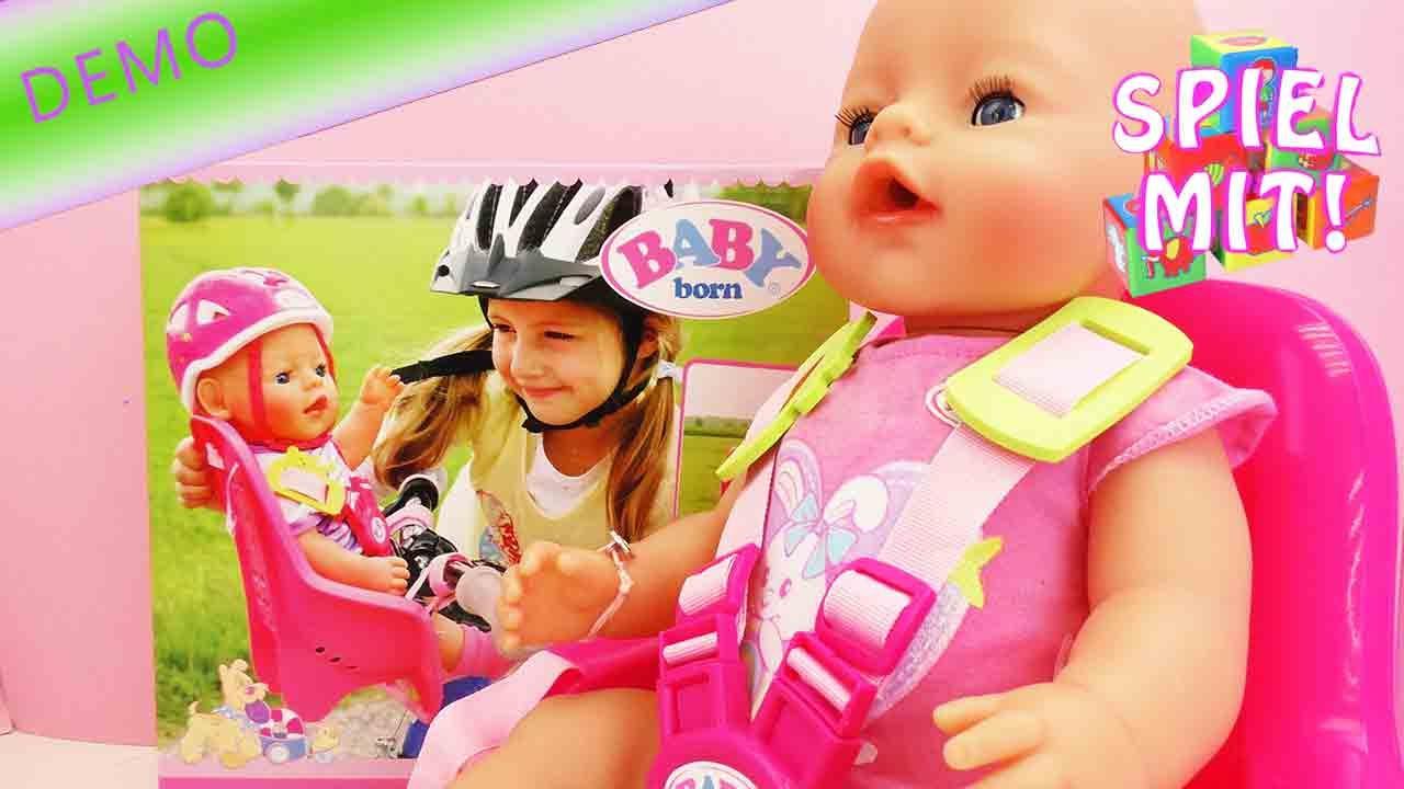 baby born fahrradsitz mit helm