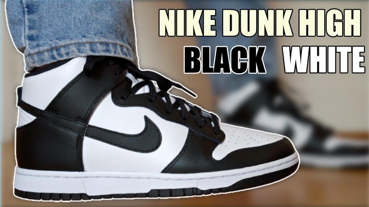 NIKE DUNK HIGH BLACK WHITE PANDA REVIEW & ON FEET + SIZING...HOW GOOD ARE THESE?