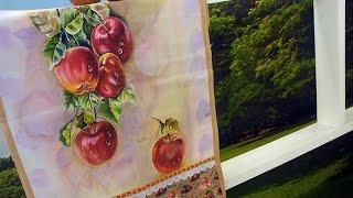 Farides Moretti – Pintura em Pano de Copa Maçãs