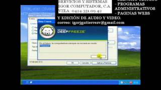 Tutorial - Uso del Deep freeze (Congelador)
