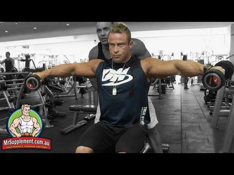 Chris Jenkins Demonstrates Side Lateral Raises - Exercise #1