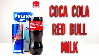 COCA COLA, RED BULL and MILK EXPERIMENT