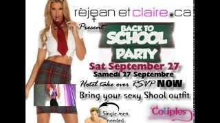 Back to school swingers party