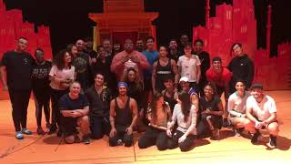 The cast of Aladdin wish West End Stage Stars theatre school good luck on their launch in Banstead