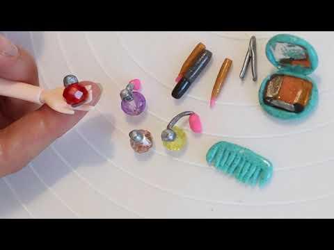 DIY Make Polymer Clay Miniature Makeup Set#3 | Mini Polymer Clay Makeup Set |Easy to do