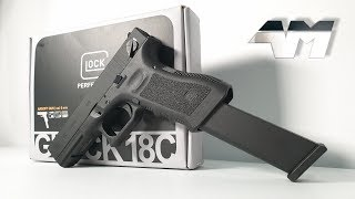 UMAREX GLOCK 18C / ELITE FORCE GLOCK 18C / Full Auto Glock / Airsoft Unboxing Review