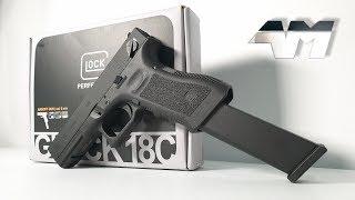 UMAREX GLOCK 18C / ELITE FORCE GLOCK 18C / Full Auto Glock / Airsoft Unboxing Review