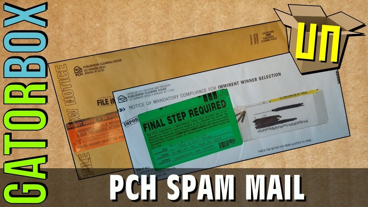Publishers Clearing House (PCH) Spam Mail | GatorUNbox