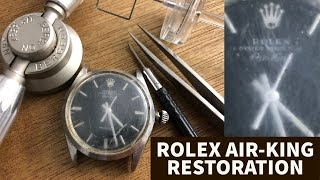 RESTORATION OF A ROLEX AIR KING OYSTER PERPETUAL circa 1968 - Caliber 1520 service
