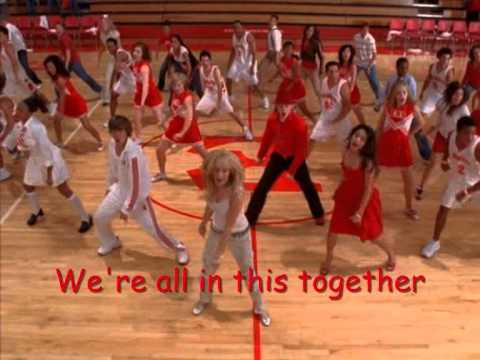 We're all in this together - High School Musical (lyrics)