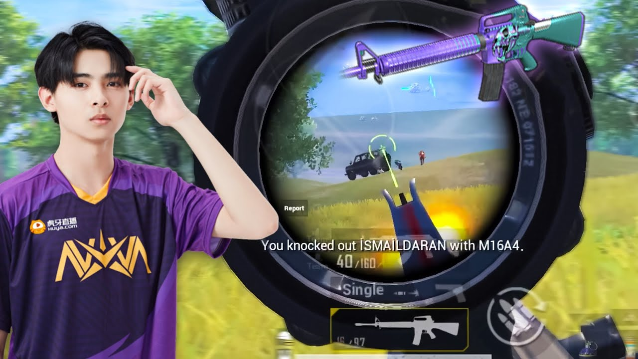 FULL AUTO M16A4 Like Chinese Pro Player Nova Paraboy! | PUBG MOBILE Highlights
