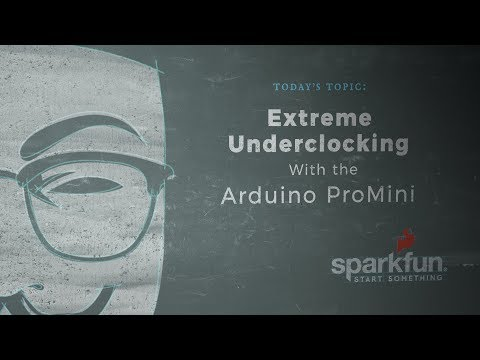 According to Pete #51 - Extreme Underclocking with the Arduino Pro Mini