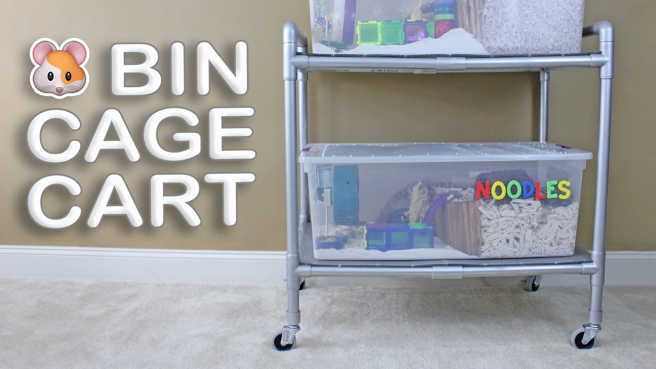 Diy Hamster Bin Cage Cart By Hammy Time Youtube