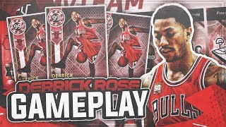 FREE PINK DIAMOND DERRICK ROSE 75 POINT GAMEPLAY!! BEST FREE CARD IN THE GAME!! NBA 2K18 MYTEAM