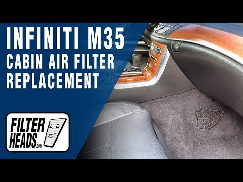 How to Replace Cabin Air Filter 2007 Infiniti M35