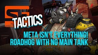 SF Breaks the Overwatch League Meta - Attack Roadhog with NO Main Tank (Shock vs. Outlaws)